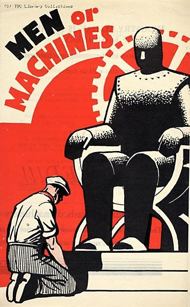 Men or Machines - TUC leaflet about automation, 1936
