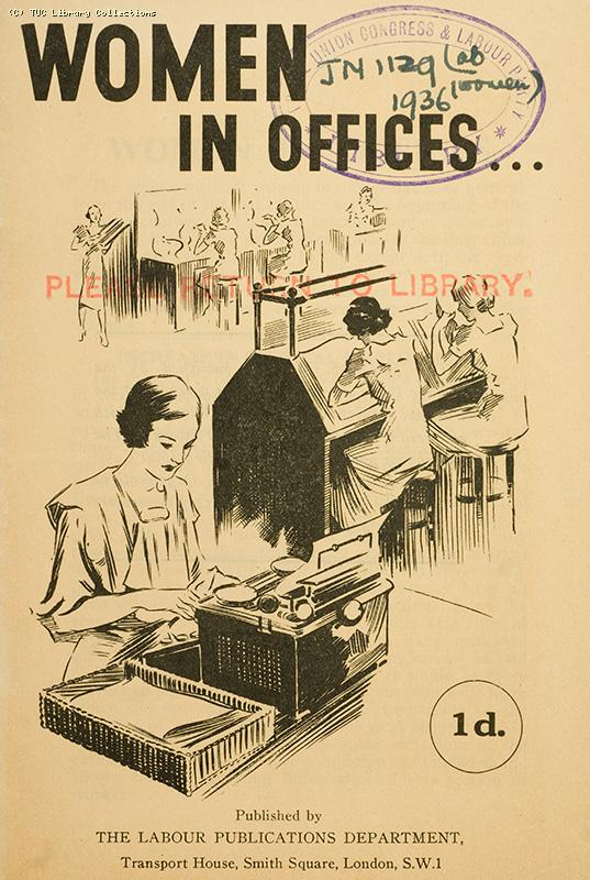 Women in offices - Labour Party report, 1936