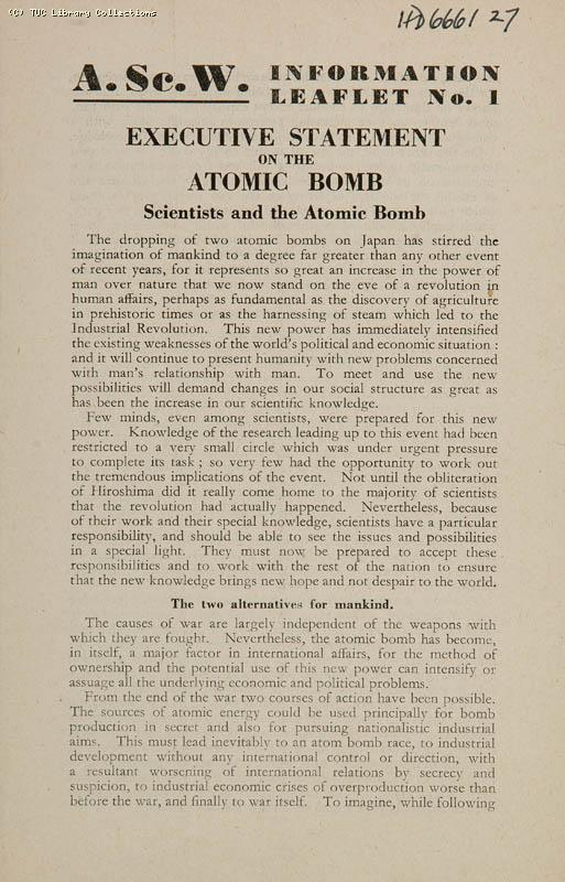 Scientists and the Atomic Bomb, 1945