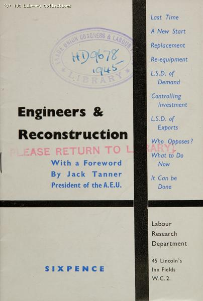 Engineers and reconstruction, 1945