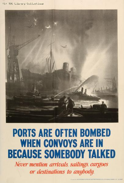 Port security poster, 1940-1945
