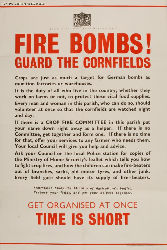 Fire bombs! Guard the cornfields, 1940-1941